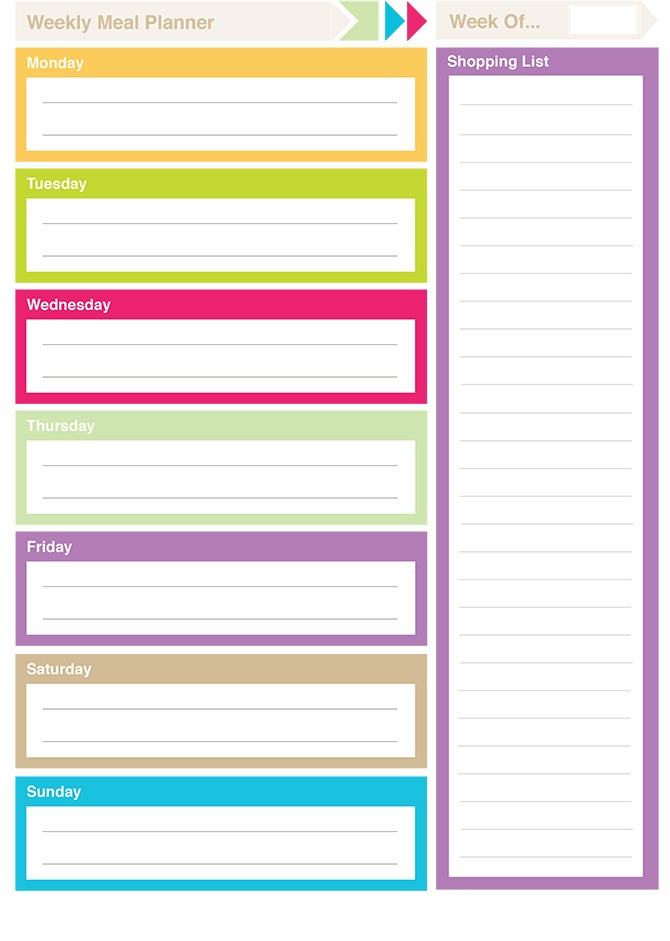 Free Printable Planner Pages Color