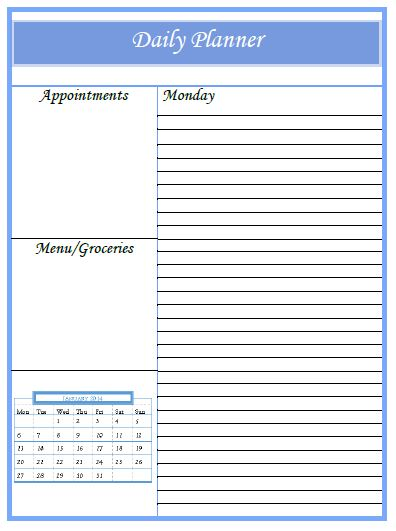 Free Printable Planner Pages Daily