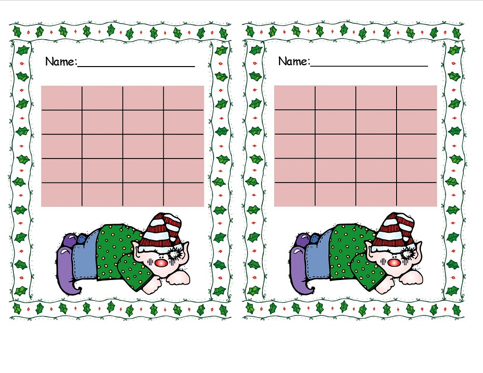 Reward Chart Printable Christmas for Kids