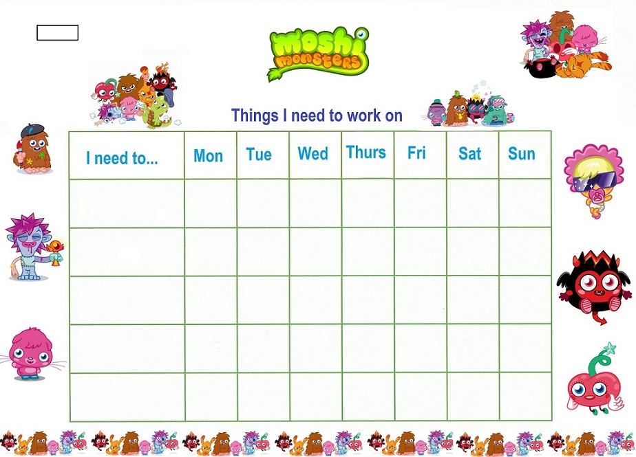 Reward Chart Template Sticker