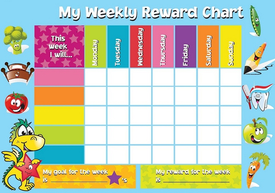Reward Chart Template Weekly