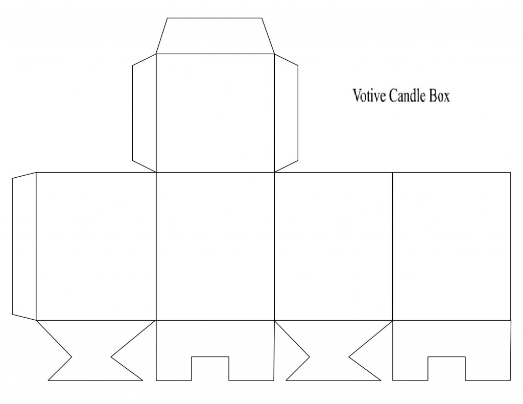 Box Template Votive Candle