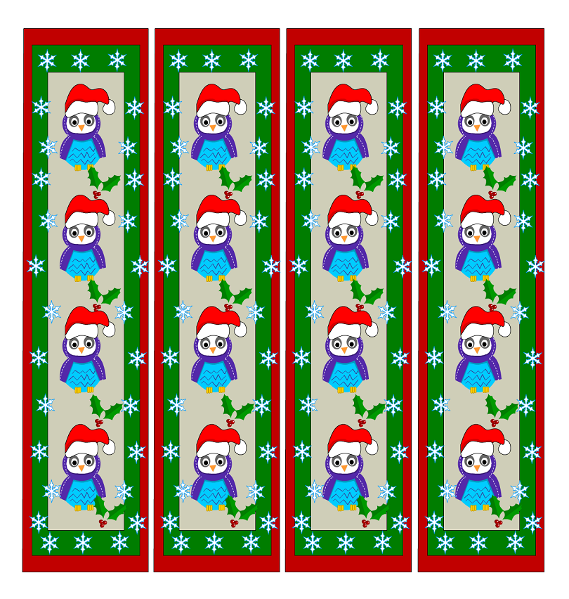 Cute Bookmarks for Kids Christmas