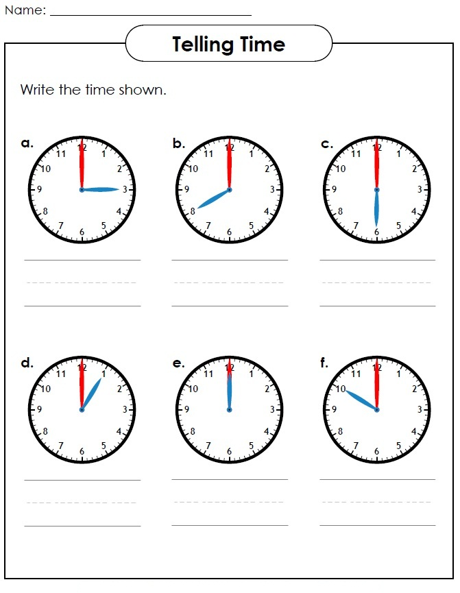Elapsed Time Worksheets Basic