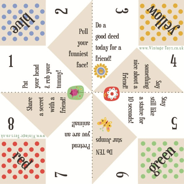 Fortune Teller Paper Game Templates