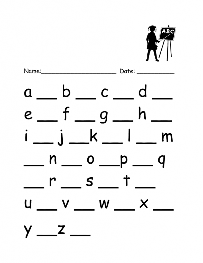 Lowercase Letter Worksheets Writing