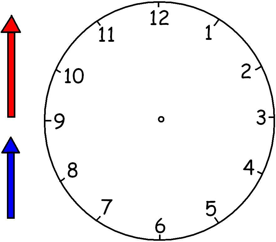 Printable Clock Face and Hands