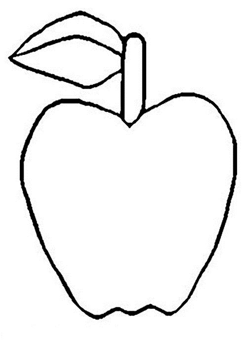 Templates for Kids to Color Apple