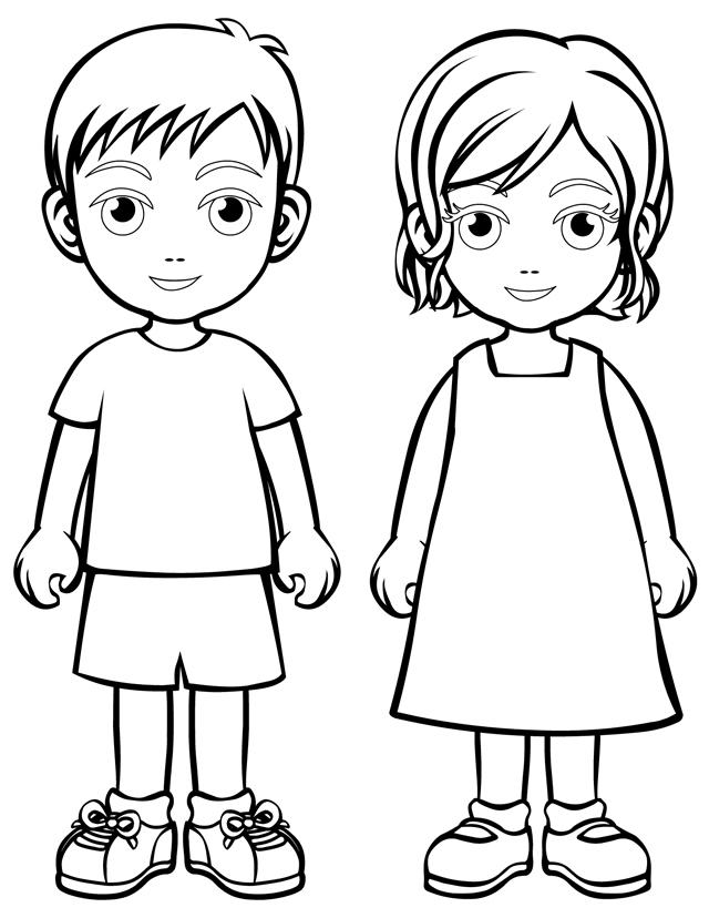 Templates for Kids to Color Children