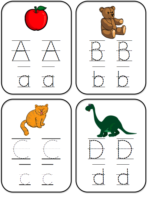 Tracing Alphabet ABC for Kindergarten