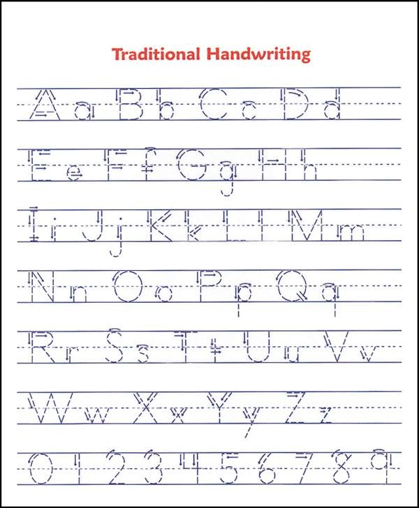 Tracing Alphabet ABC handwriting