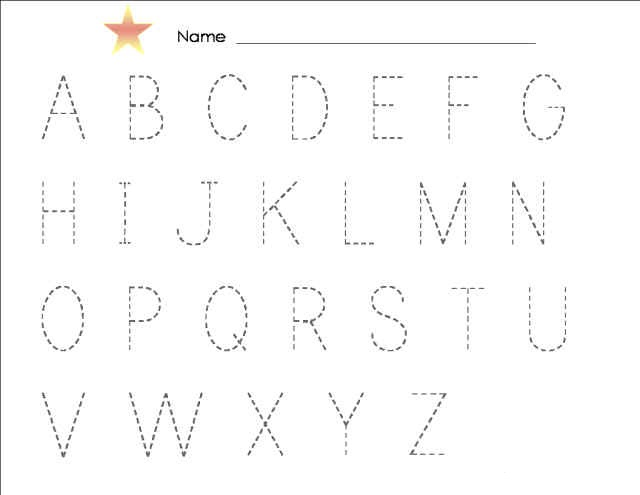 Tracing Alphabet ABC preschool