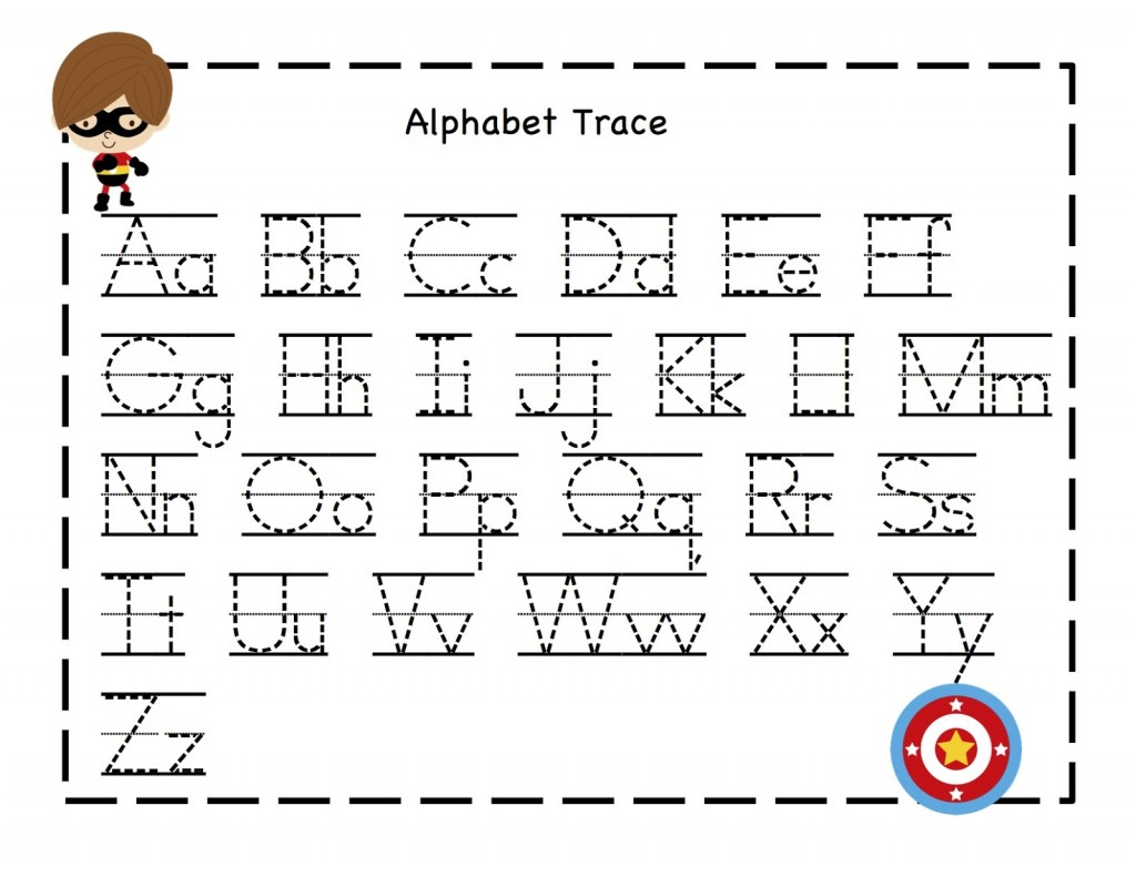 Tracing Alphabet ABC sheet