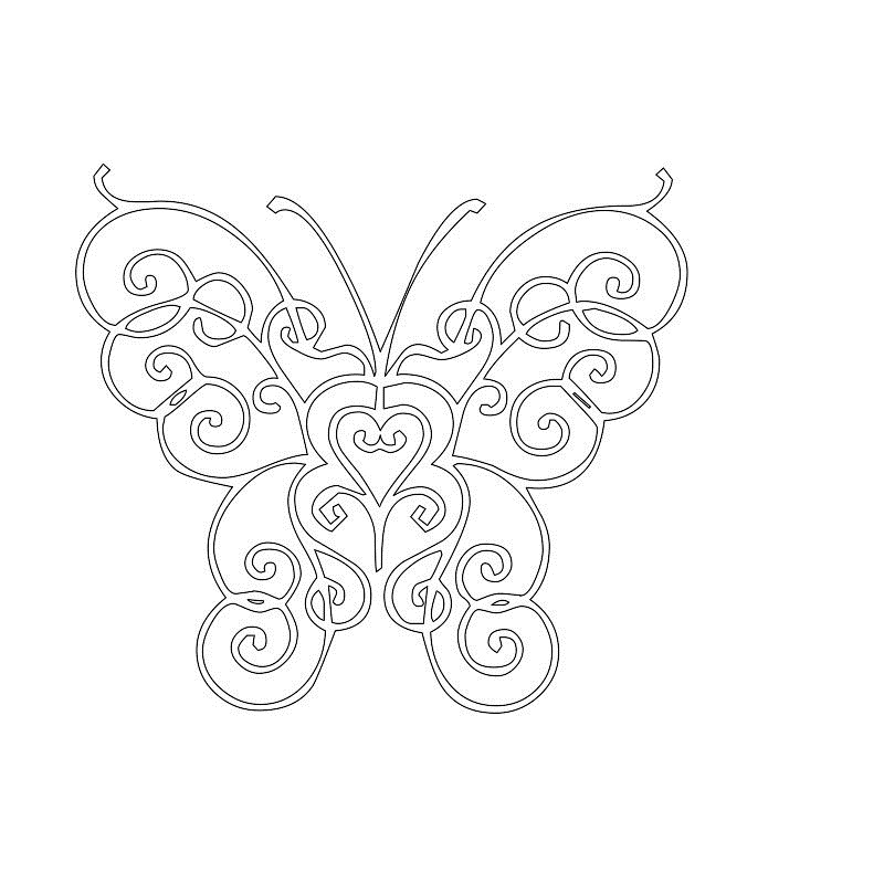 stencils printable butterfly