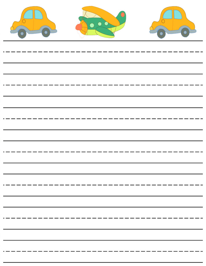 writing paper printable cars and plane