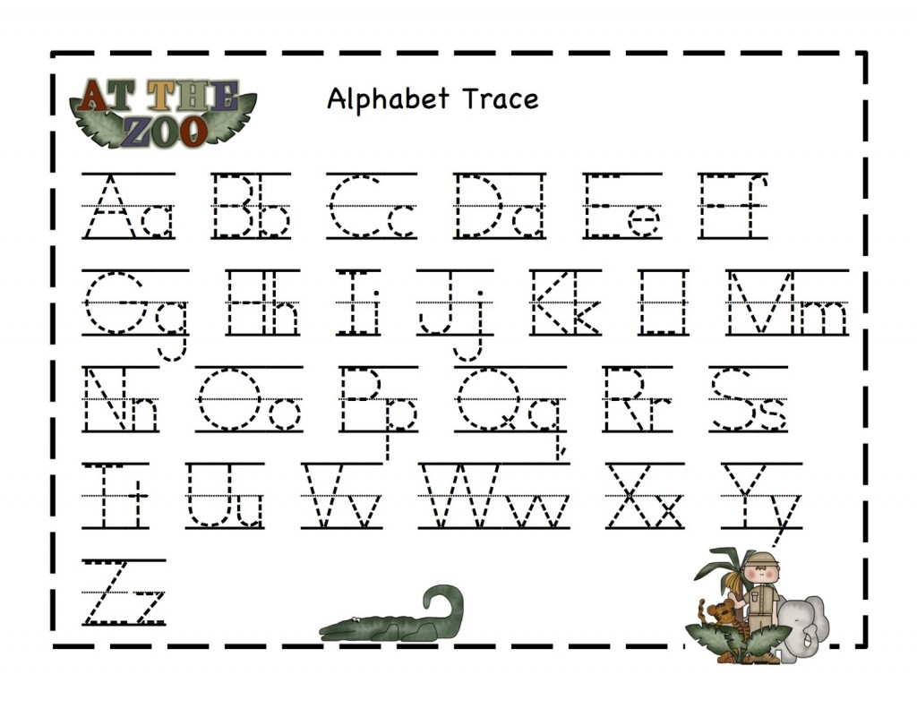 Alphabet Tracer Pages A to Z