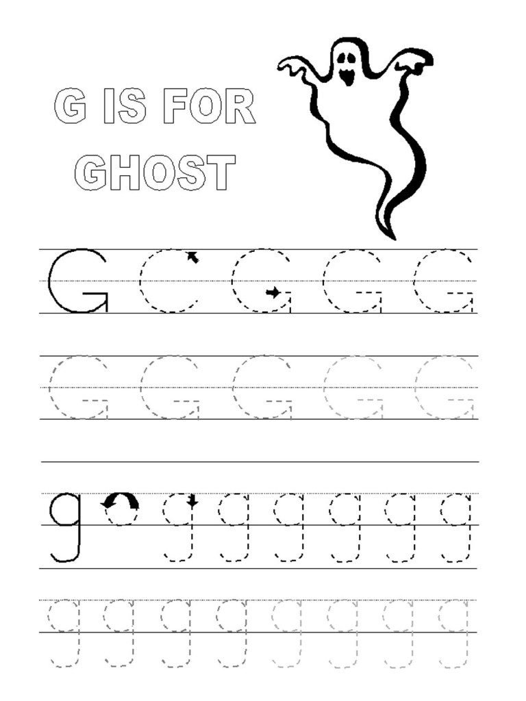 Alphabet Tracer Pages G