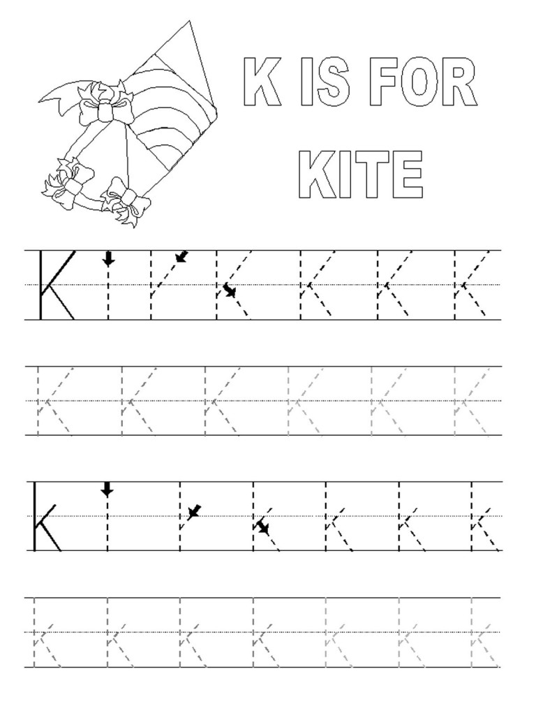 Alphabet Tracer Pages K