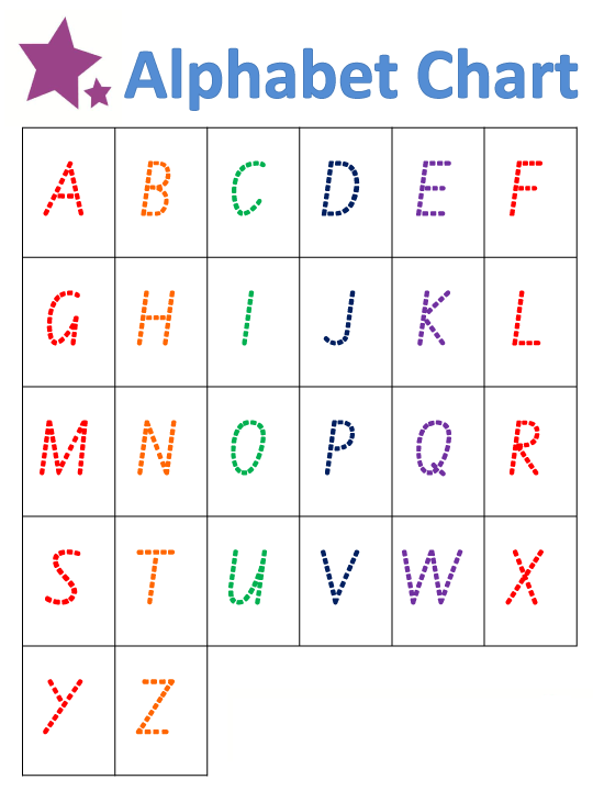 Capital Alphabet Letters Tracing