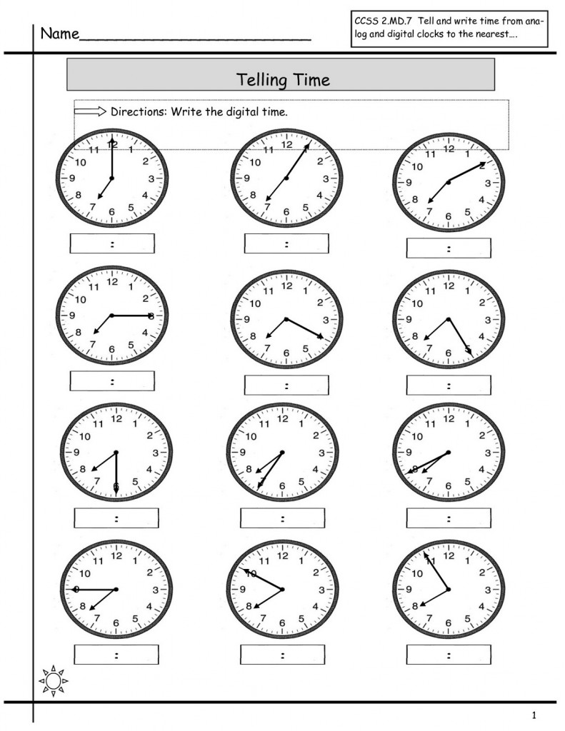 Free Elapsed Time Worksheets Practice