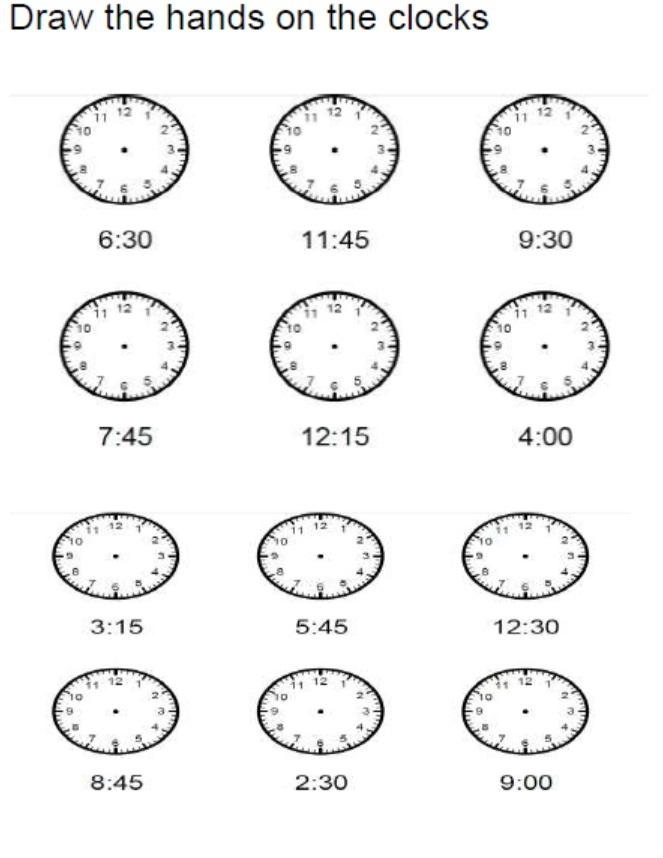 Free Elapsed Time Worksheets no Hands