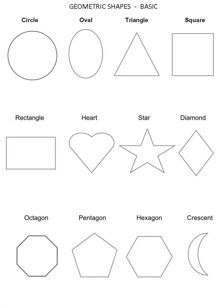Free Shapes Worksheets Basic Geometric
