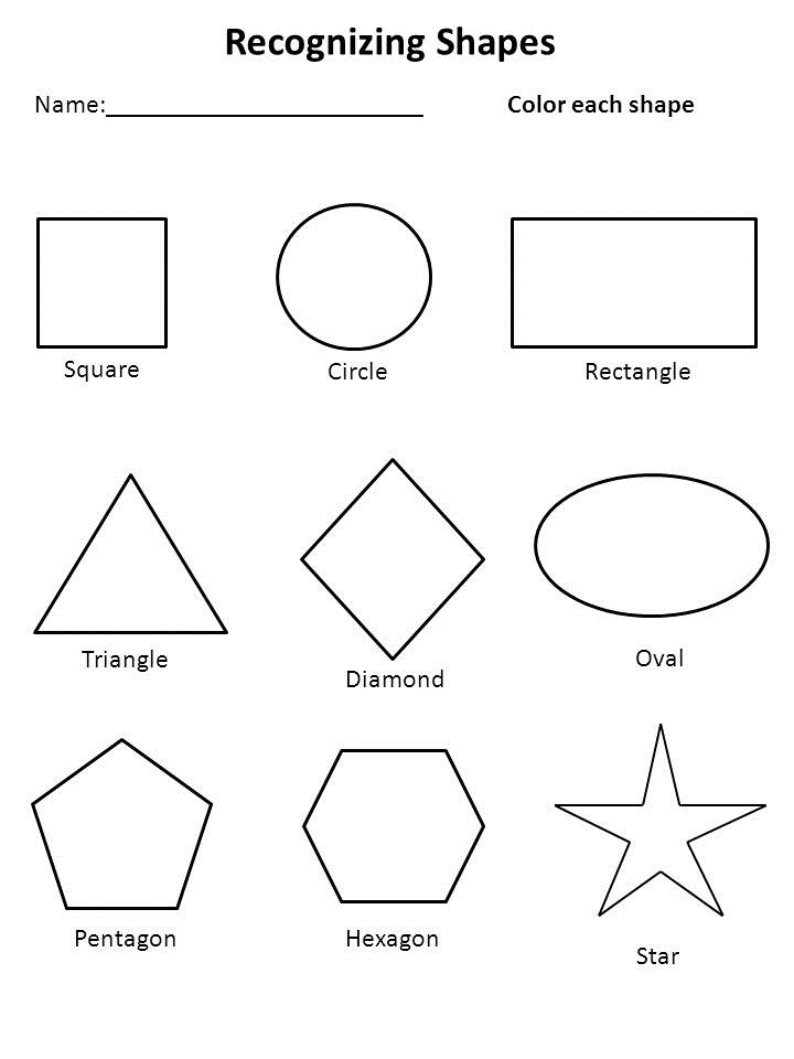 Free Shapes Worksheets for Preschool