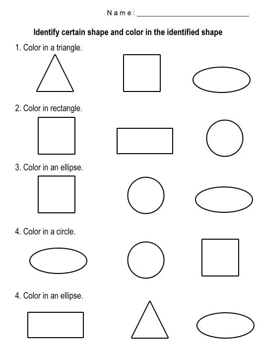 Free Shapes Worksheets to Print