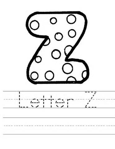 Letter Z Worksheet Coloring