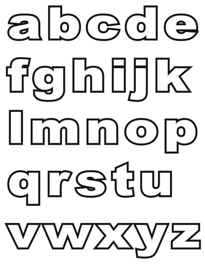 Small Alphabet Letters Lower Case