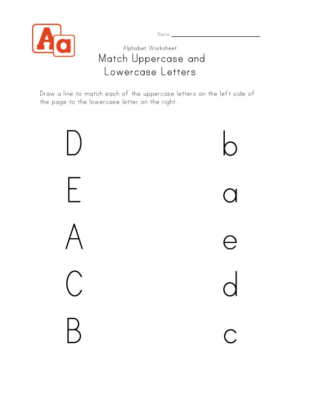 Uppercase and Lowercase Alphabet Match