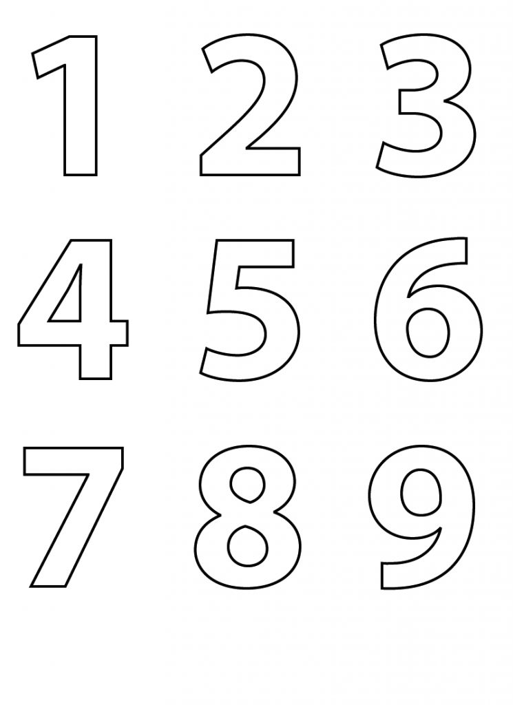 Worksheet for Numbers Coloring 1-9