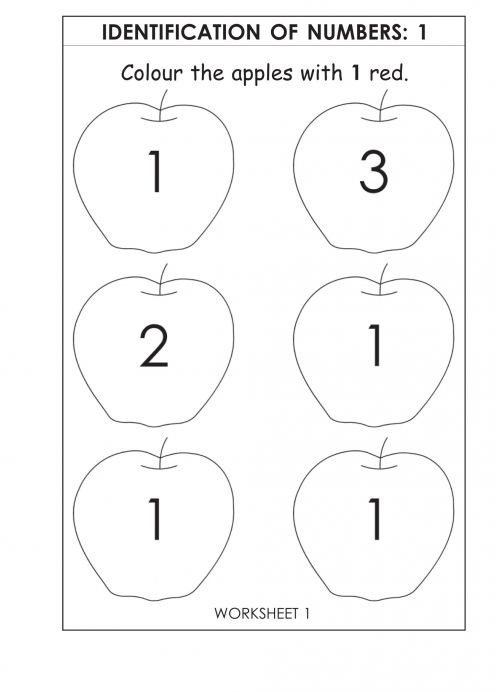 Worksheets for 2 Year Olds Number