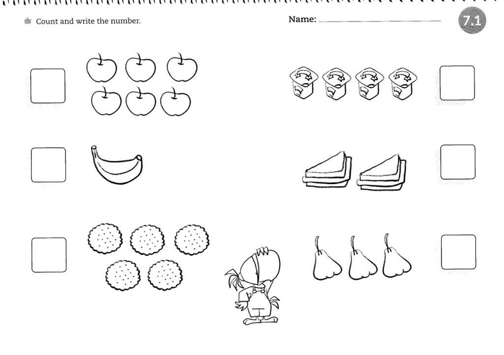 Worksheets for 4 Year Olds Counting
