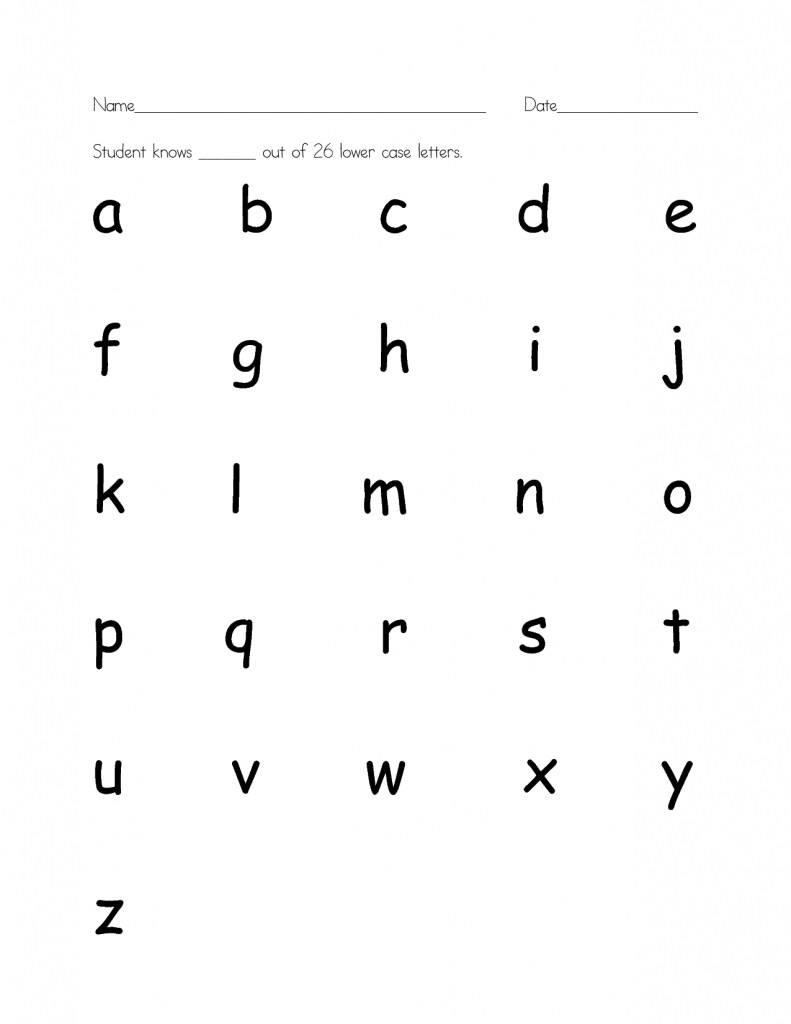 Lowercase Letters Worksheet A Z