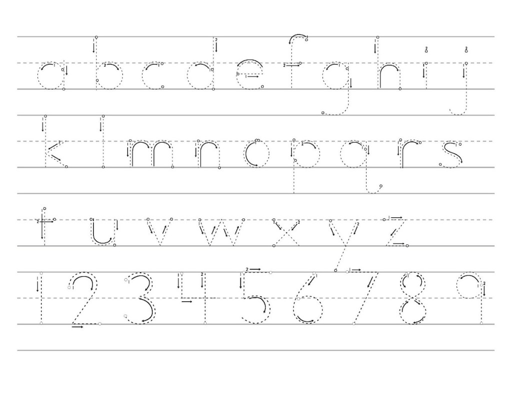 Traceable Alphabet Letters and Numbers