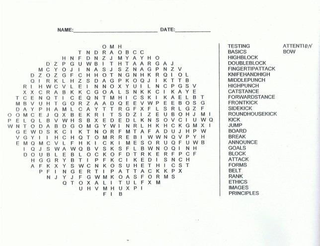 Free Word Search Puzzles for Kids 2