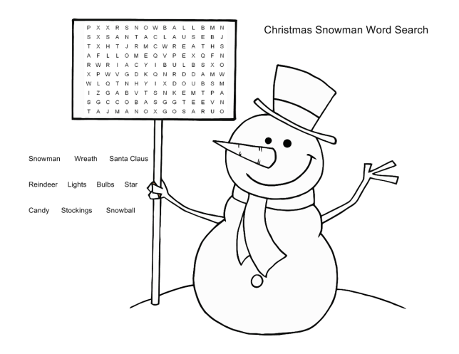Free Word Search Puzzles for Kids 3