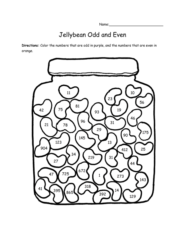 Odd and Even Number Worksheets 4