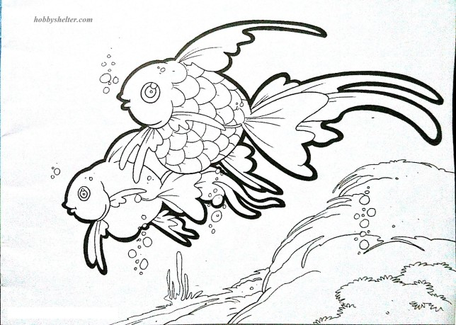 Animal Coloring Pages Goldfish