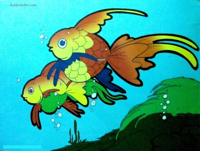 Animal Coloring Pages Goldfish Colored