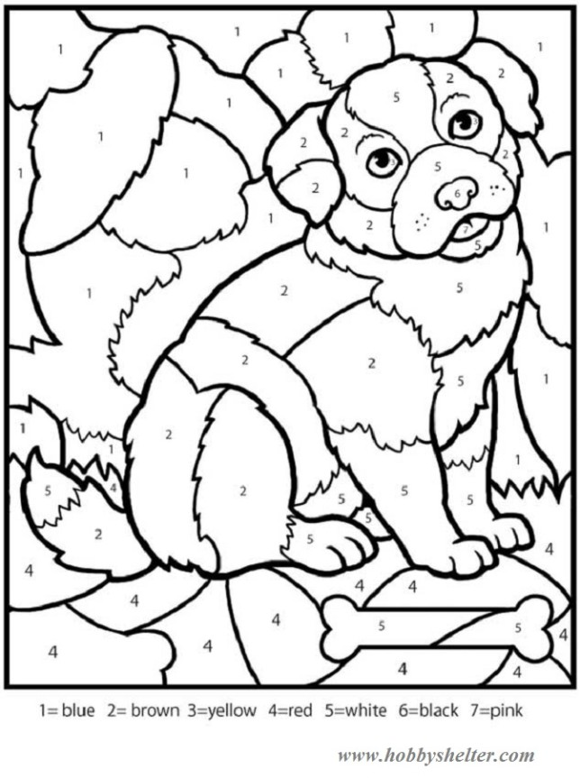 color by number mosaic worksheets