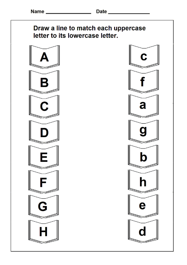 uppercase and lowercase worksheets letter