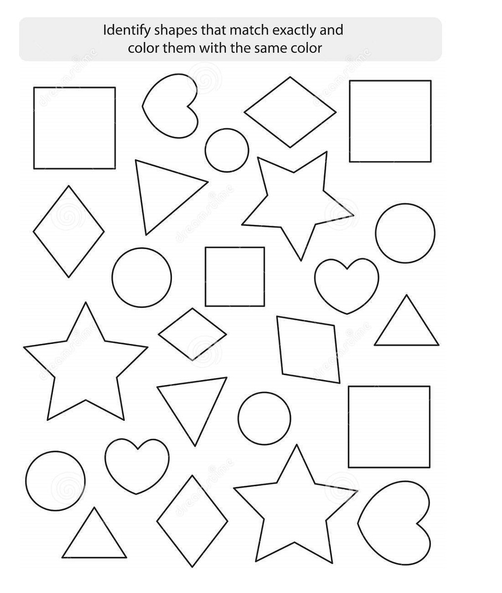 color by shape worksheet