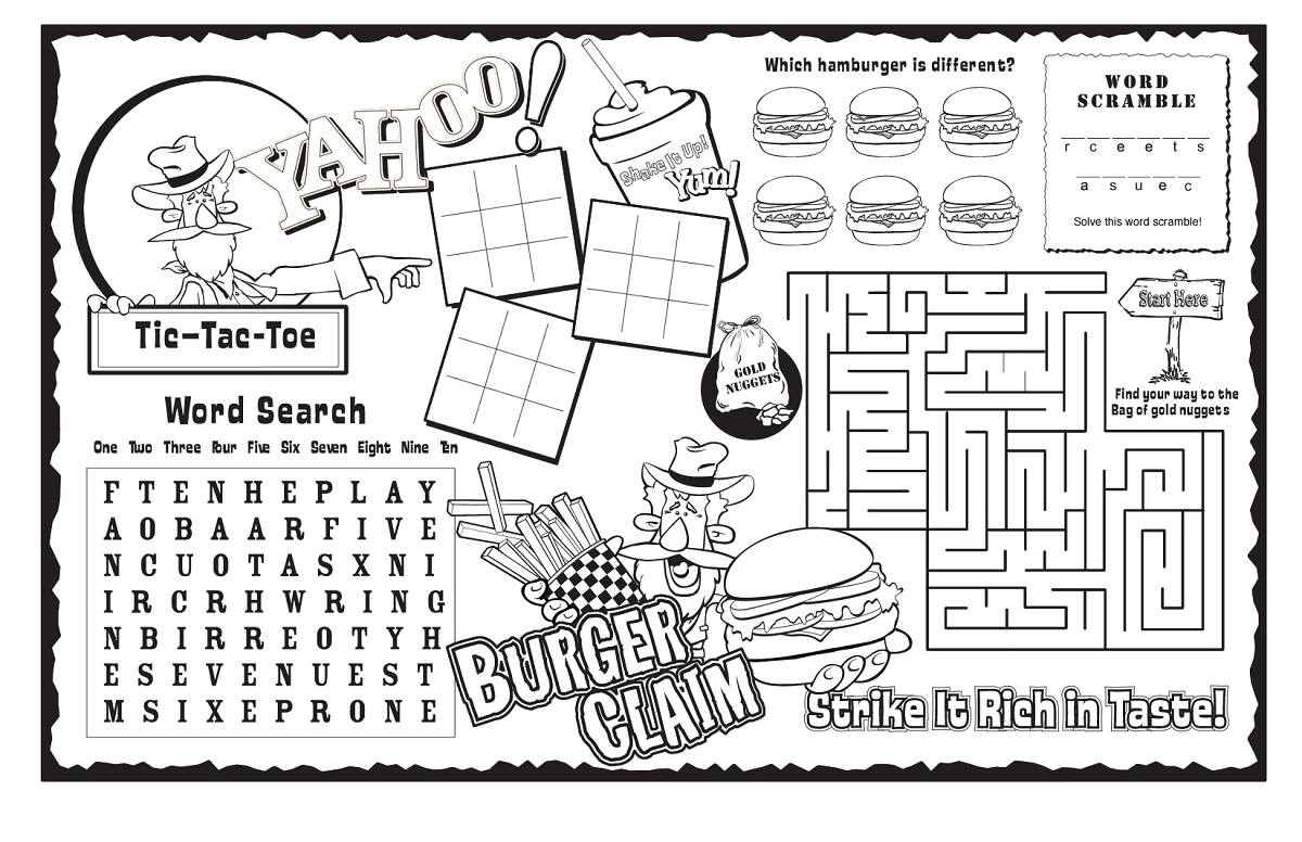 kids activity sheets puzzle