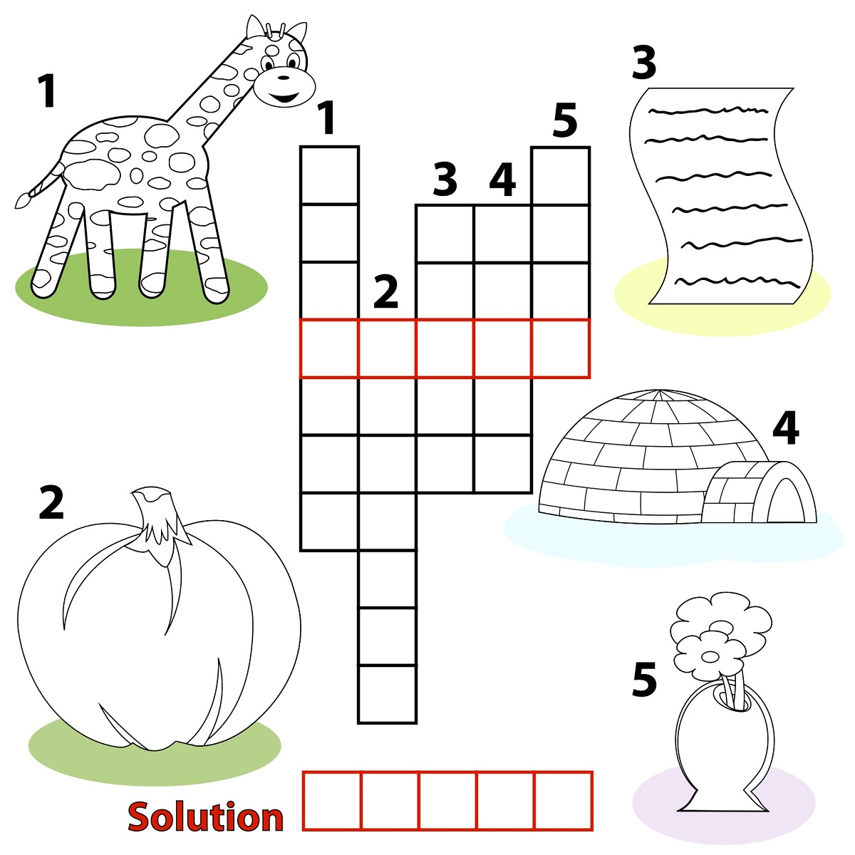 kids word puzzles object