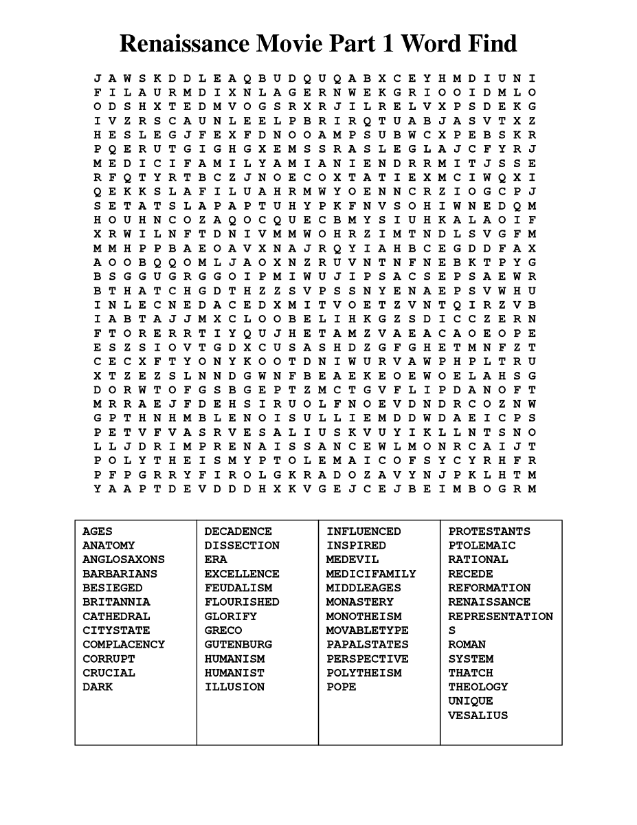 movie word search1