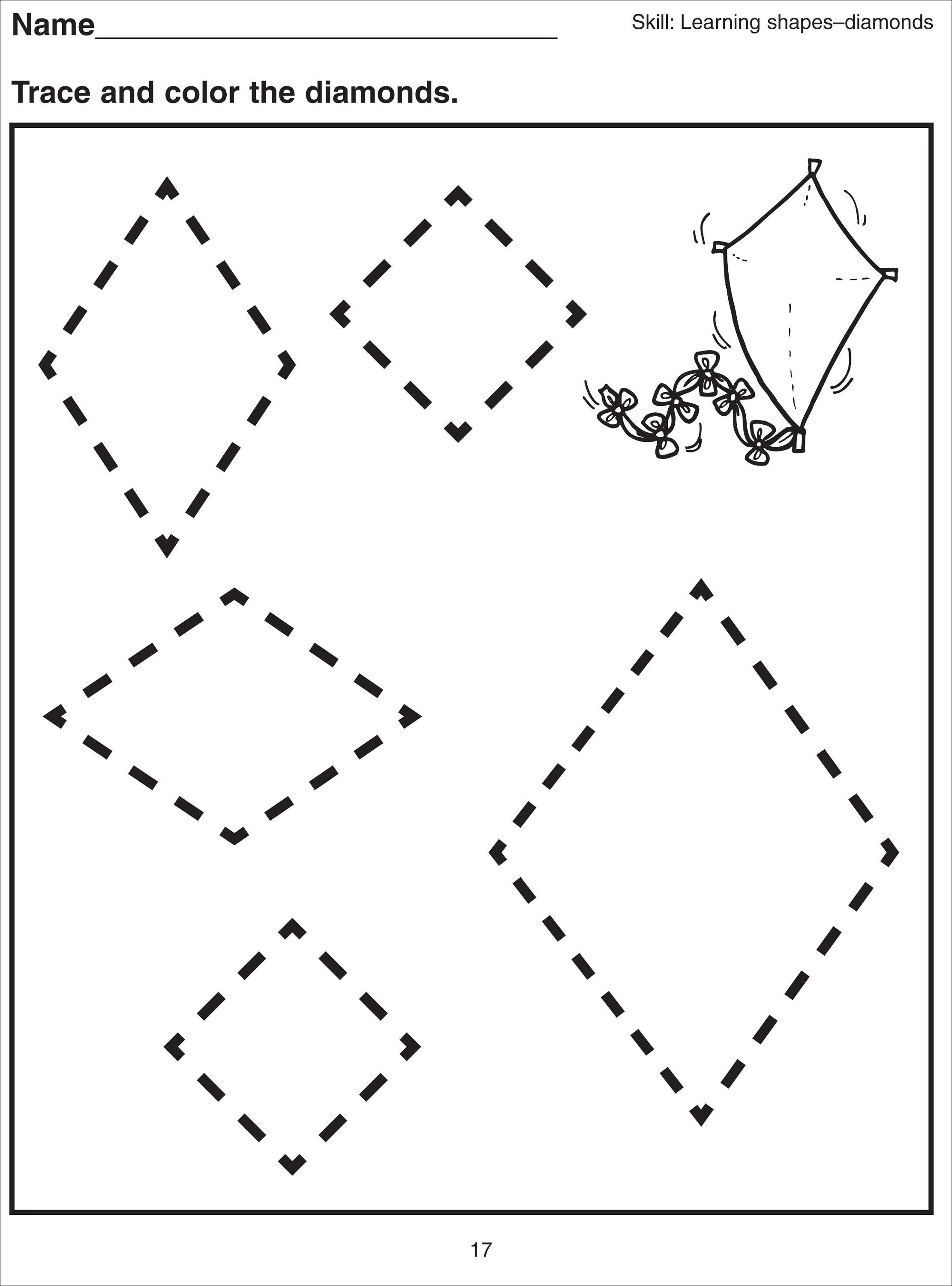 basic-shapes-worksheets-diamond