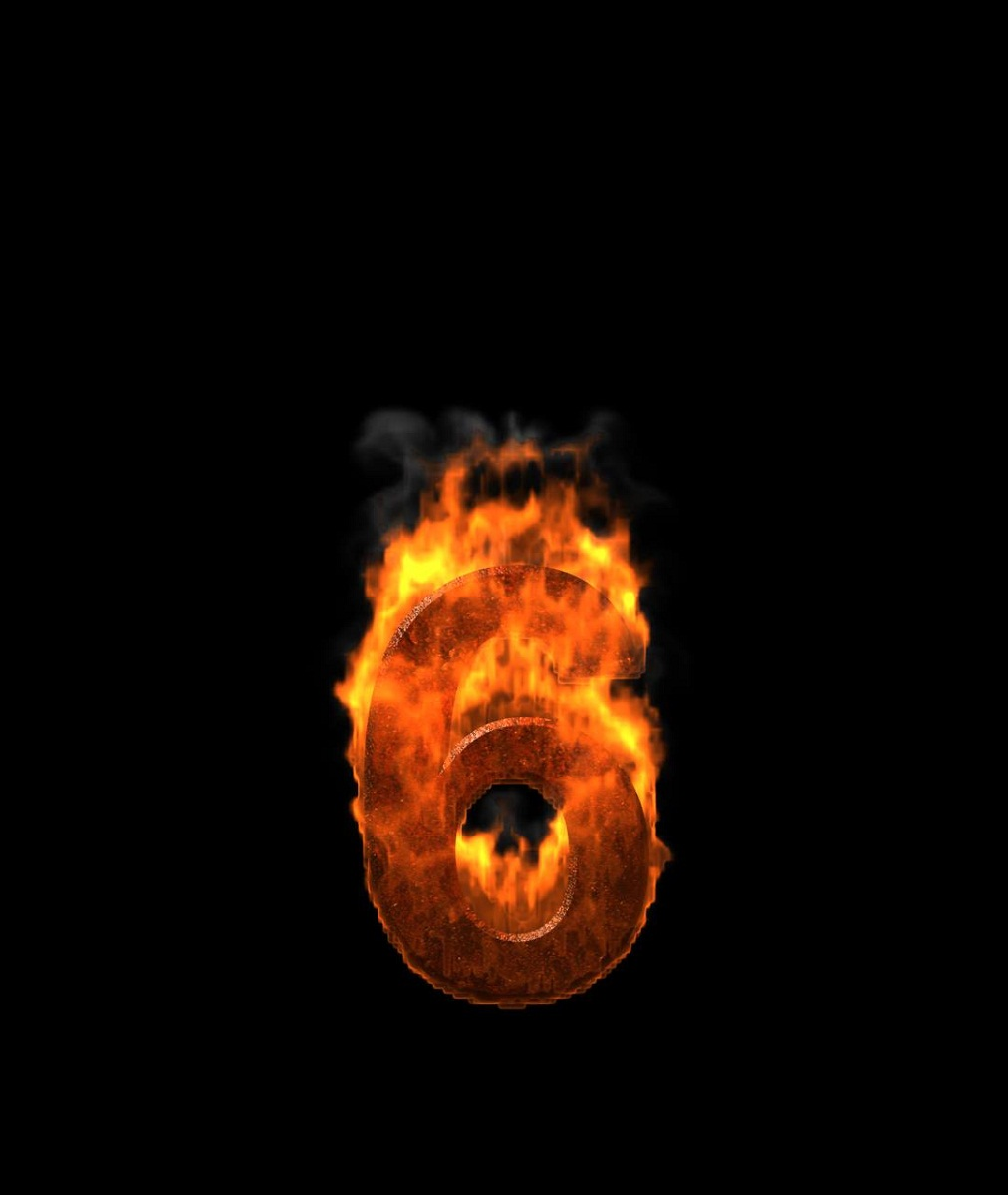 picture-of-the-number-6-fire