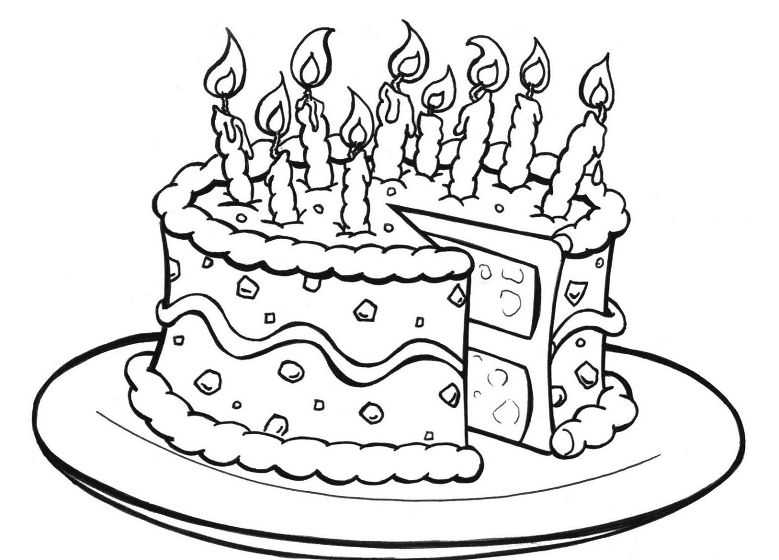 birthday-color-pages-cake